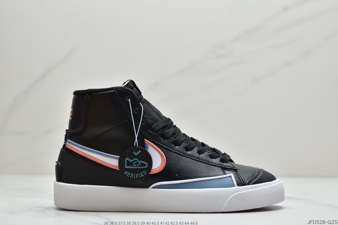 "纯原Nike Blazer Mid '77 Infinite ""Rubberized Black"" 黑粉系列莆田鞋"